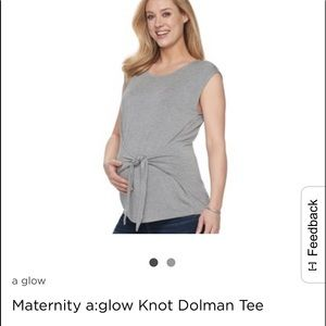 NWT Maternity A:Glow Tie-Front Top